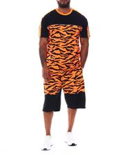 Buyers Picks - Tiger Neon Camo Colorblock T-Shirt & Shorts Set (B&T)-2530702