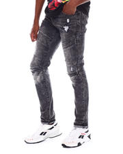 WT02 - Moto Stretch Front Flap Jean-2526925