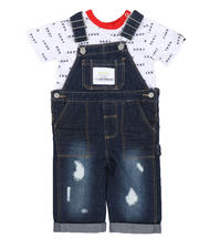 Sets - 2 Pc Denim Overalls & Logo Tee Set (Infant)-2528917