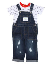 Sets - 2 Pc Denim Overalls & Logo Tee Set (2T-4T)-2528927