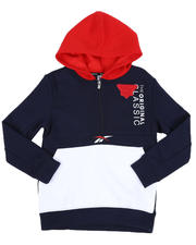 Reebok - Polar Half Zipper Fleece Pullover Hoodie (8-20)-2527641