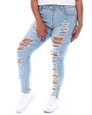Plus Size - High Waist Destructed Skinny Jean(Plus)-2526858