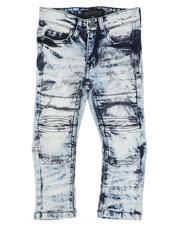 Arcade Styles - Crinkle Moto Skinny Jeans (2T-4T)-2529133