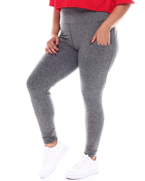 Fashion Lab - Active Legging With Perforated Side Leg Cell Phone Pocket