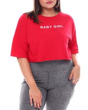 Plus Size - Baby Girl S/S Crop top(Plus)-2531550