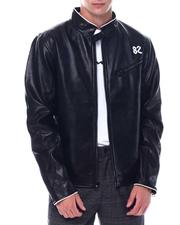 Men - BIKER P/U LEATHER JACKET-2530819