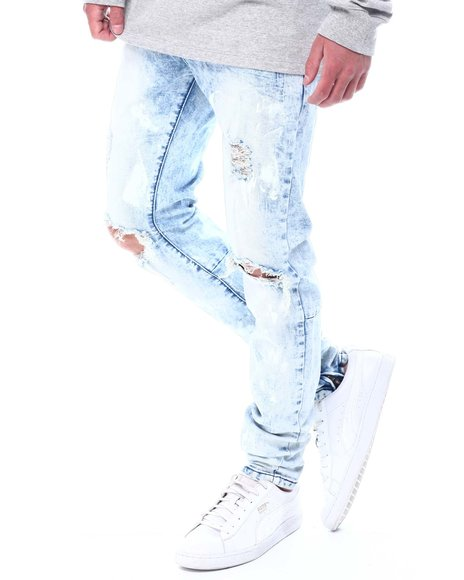 KDNK - Paint Dabbed Ankle Zip Jeans