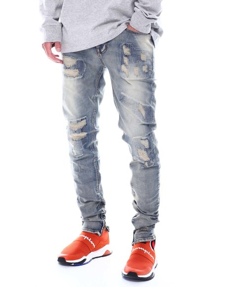 KDNK - Ripped and Repair Ankle Jean