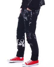 SMOKE RISE - Slim Fit Rocker Patch Jean-2531252