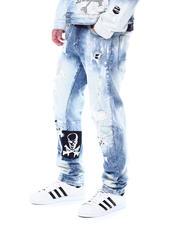 SMOKE RISE - Slim Fit Rocker Patch Jean-2531342