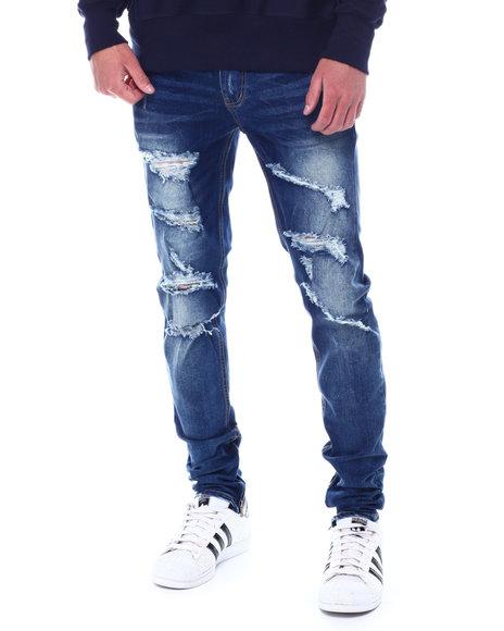 KDNK - Distressed Ankle Zip Skinny Jean