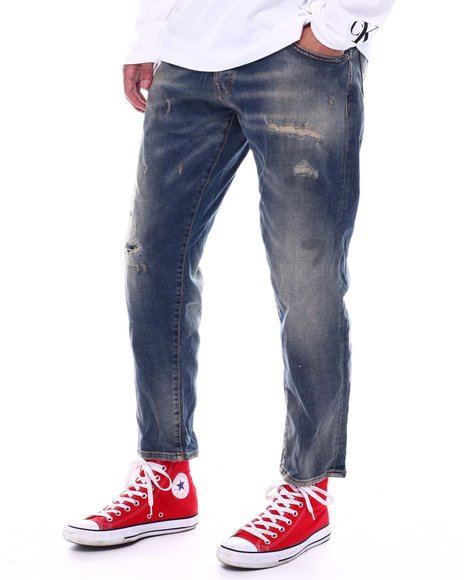 Jack & Jones - Cropped Distressed Jean