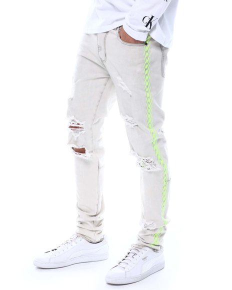 KDNK - Neon Embroidered Jeans