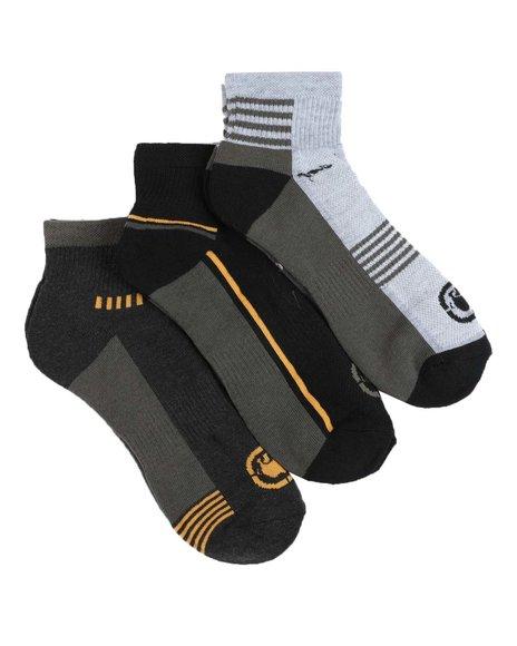 Ecko - 3 Pack 1/2 Cushion Quarter Socks