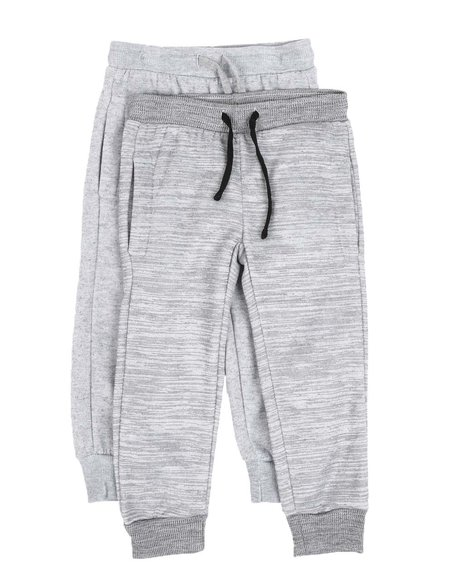 Arcade Styles - 2 Pack Marled & Solid Fleece Jogger Pants (8-18)