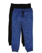 Arcade Styles - 2 Pack Marled & Solid Fleece Jogger Pants (4-7)-2529888