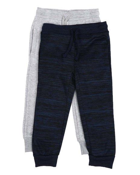 Arcade Styles - 2 Pc Marl & Solid Fleece Jogger Pants (8-18)