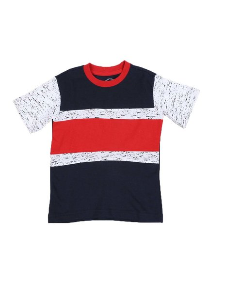 Arcade Styles - Color Block Striped Tee (4-7)