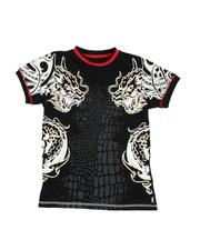 Arcade Styles - Dragon Graphic Ringer T-Shirt (8-20-2530901