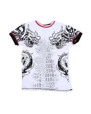 Arcade Styles - Dragon Graphic Ringer T-Shirt (8-20-2530916