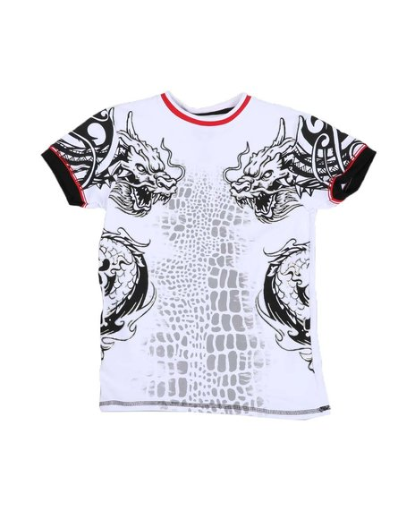 Arcade Styles - Dragon Graphic Ringer T-Shirt (8-20
