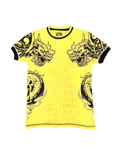 Arcade Styles - Dragon Graphic Ringer T-Shirt (8-20)