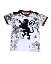 Arcade Styles - Lion Graphic Contrast Shoulder T-Shirt (8-20)-2531014
