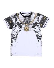 Arcade Styles - Chain Print Graphic T-Shirt (8-20)-2531029