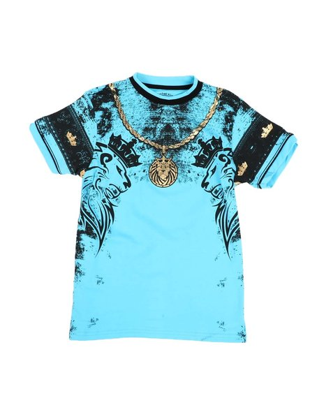 Arcade Styles - Chain Print Graphic T-Shirt (8-20)