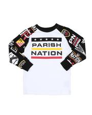 Parish - Raglan Long Sleeve Tee W/ AOP (4-7)-2532425
