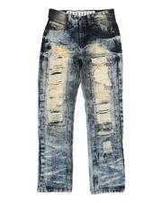 Arcade Styles - Destructed 5 Pocket Crinkle Jeans (8-18)-2532498