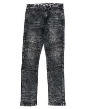 Arcade Styles - Heavy Blasted Stretch Denim Moto Jeans (8-18)-2532514