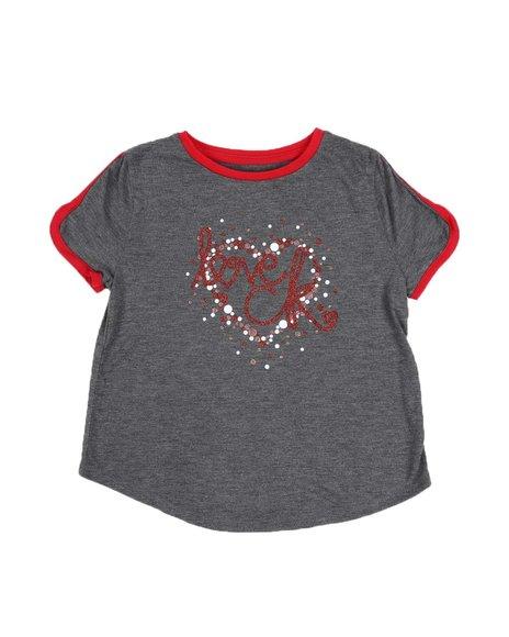 Calvin Klein - Heart Logo Tee W/ Contrast Trim (7-16)