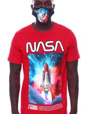 cartoons-pop-culture - Nasa Rocket in Galaxy Tee w Mask-2532717