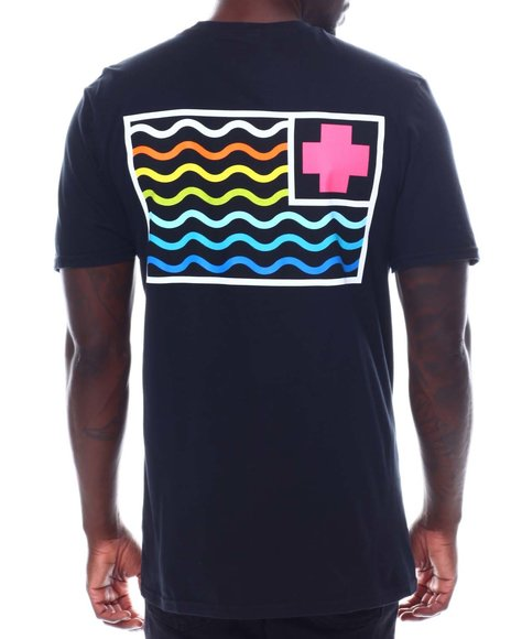 Pink Dolphin - MULTI SUMMER FLAG TEE