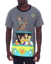 cartoons-pop-culture - ScooBy Doo Oversized Back Print Ringer Tee-2533659