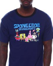 cartoons-pop-culture - Sponge Bob Oversized Back Print Ringer Tee-2533681