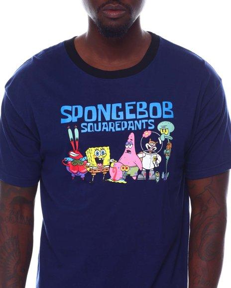 FREEZE - Sponge Bob Oversized Back Print Ringer Tee