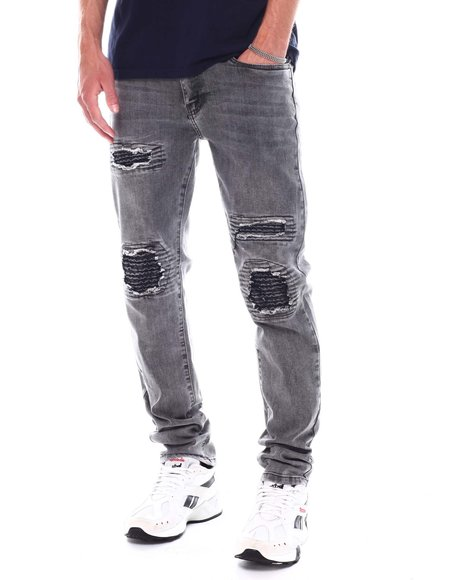 Buyers Picks - Distressed Ripple Patch Skinny Jean