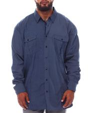 Big & Tall Faves - Polka Dot Long Sleeve Shirt (B&T)-2535002