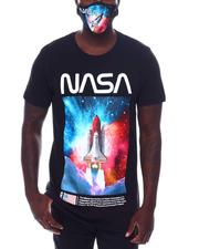 Men - Nasa Rocket in Galaxy Tee w Mask-2532639