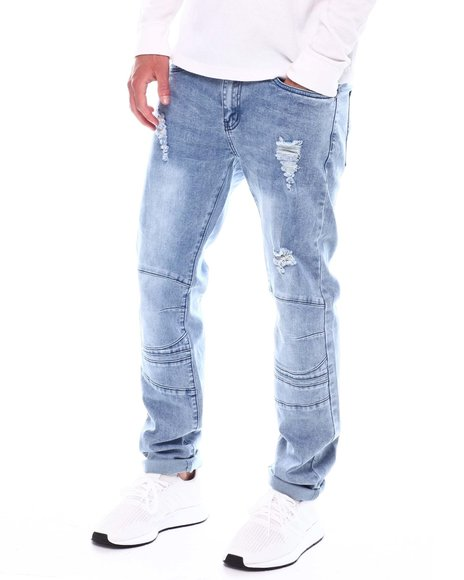 Buyers Picks - Light Wash Distressed Articulated Knee Jean