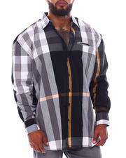 Big & Tall - Multi Color Plaid Long Sleeve Woven Shirt (B&T)-2534925