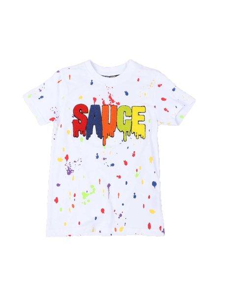 Rebel Minds - Sauce Drip Paint Splatter T-Shirt (8-20)