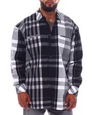 Big & Tall - Multi Color Plaid Long Sleeve Woven Shirt (B&T)-2534920