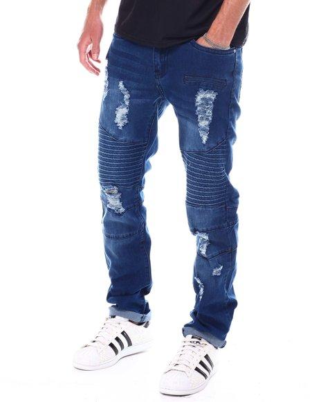 Buyers Picks - Distressed Skinny Moto Jean