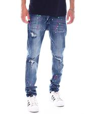 Jeans & Pants - Super Skinny Distressed Paint Splatter Jean-2533300