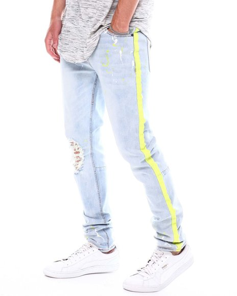 KDNK - Paint Stripe Jean w Paint Splatter
