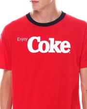 cartoons-pop-culture - Coke Oversized Back Print Ringer Tee-2533480
