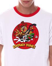 cartoons-pop-culture - Looney Tunes Oversized Back Print Ringer Tee-2533753
